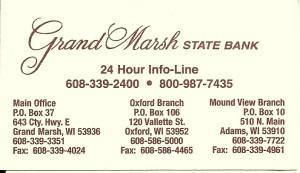 Grand Marsh State Bank