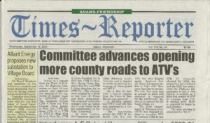 ATV/UTV HWY Committee approval