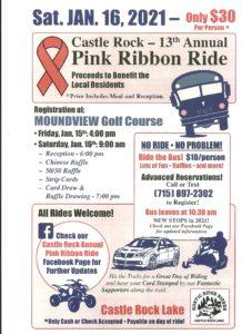 Castle Rock Pink Ribbon Ride 1-16-21